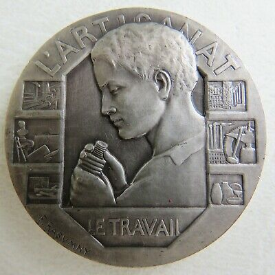 Medaille Argent Massif Solid Silver Rare French Medal Felix Rasumny L Artisanat