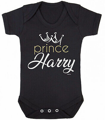 Personalised BABY GROW Boys PRINCE Name & Crown Funny Bodysuit Baby Shower Gift