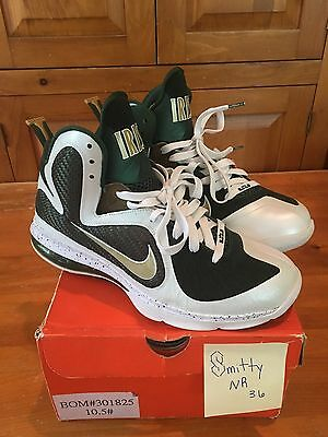 5c0a6ae111ebd Mens Nike Lebron 9 SVSM Home Sample Size 10.5 rare Saint Vincent Saint Mary