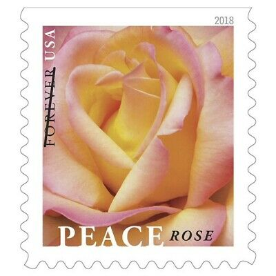 Peace Rose Book of 20 First Class Forever Stamps
