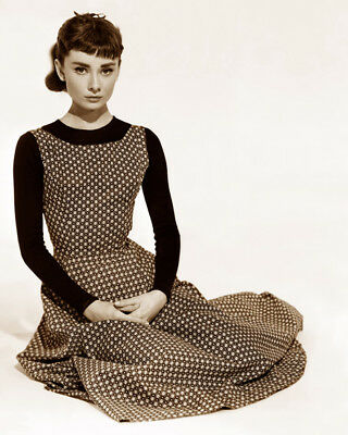 Audrey Hepburn Sabrina 1954 Actress Movie Star Hollywood Sepia Photo