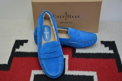 1463faea9b6 COLE HAAN WOMEN S Air Sadie Driver Penny Loafers Suede Leather 7644 ...