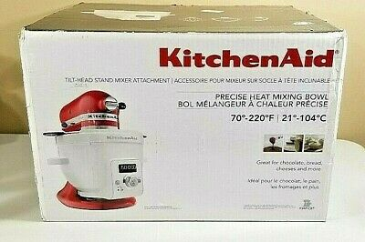 KITCHENAID Tilt Stand Mixer Attachment Heat Mixing Bowl KSM1CBT NEW