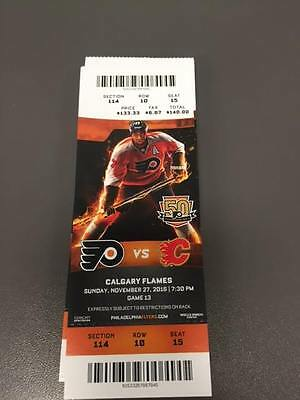 Anthony Stolarz NHL Debut - Flyers Flames MINT Season Ticket 11/27/16 2016 Stub