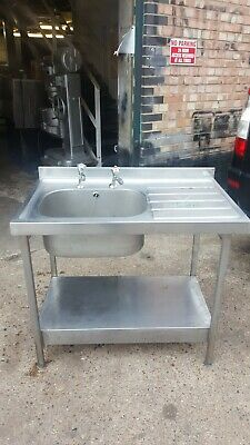 Commercial single bowl 100 cm Sink, Right hand drier,Stainless Steel Sink