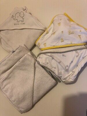 Mothercare Unisex Baby Hooded Towels x6