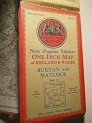Buxton,matlock,sheffield, Derbyshire,yorkshire:war Decade Ordnance Map 1916-47