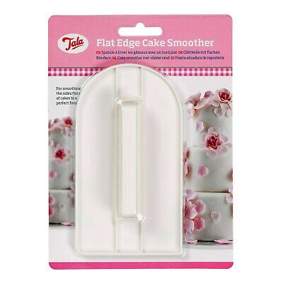 Flat Edge Cake Smoother Decorating Icing Fondant Smooth Finish Baking Tool, Tala