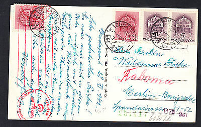 Hungary Budapest 1942 Censored Ppc To Germany