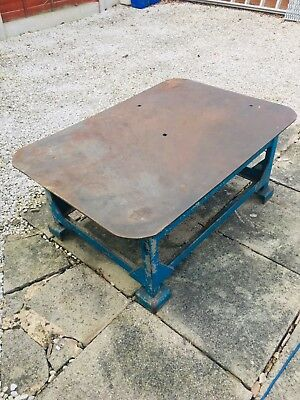 vintage steel engineering table