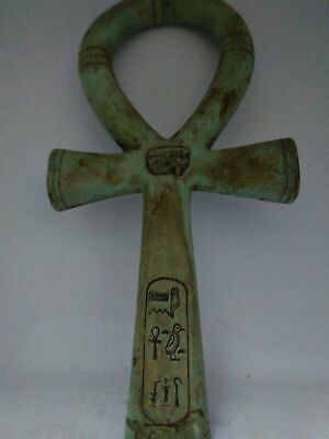 RARE ANCIENT EGYPTIAN ANTIQUE scarab Ankh Key of Life Egypt stone Bc
