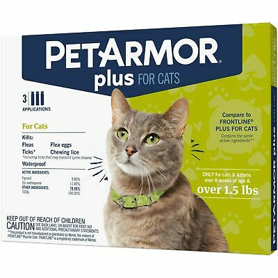 PetArmor Plus Flea & Tick Treatment for Dogs 4-22 lbs - 3 Month Supply NIB!
