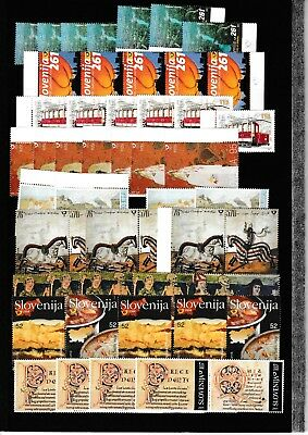 Slowenien Slovenia Slovenie 1996 - 2004 collection, sets and single stamps, MNH