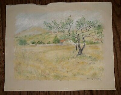 Original Pastel Drawing By Percy Gray Hand Signed