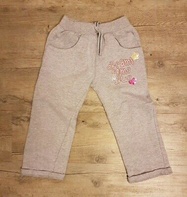 Girls Children's Grey Tracksuit Bottom Trousers Peacocks Age 4 To 5 Years Sequin