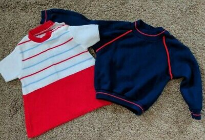 Vintage Baby Boy Sweaters Marshall Field Penny's Size 3T