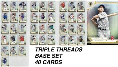 Topps Bunt 2019 Triple Threads Base Set 40 Cards + Ted Williams Award