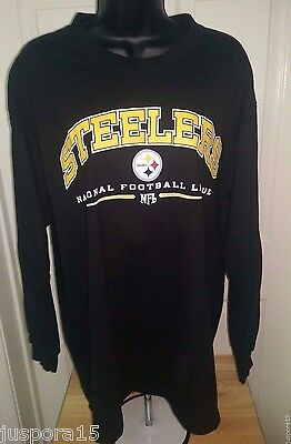 c0f91fac5 J LARGE PITTSBURGH Steelers T-Shirt Antigua NFL 3 Button Black Top ...
