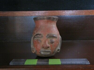 Pre Columbian, Pottery, Costa Rican, Face Vessel, Terminal Classic 800 1200 A,D,