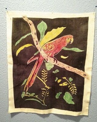 Prison Artwork Inmate Art Work One Of A Kind On Cloth Beautiful Parrot