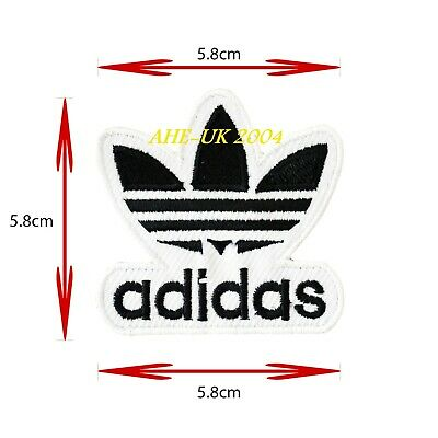 ADIDAS 5.8 X 5.8 cm (BLACK) EMBROIDERED IRON ON / SEW ON PATCH BADGE LOGO SPORTS