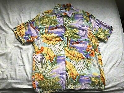 3e9578e4 VTG Jams World Japanese Rayon Colorful Hawaiian Shirt Short Sleeve Size:  Small