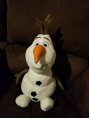 Disney Store Authentic Patch Frozen Olaf Snowman Big Plush Stuffed