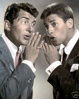 "DEAN MARTIN & JERRY LEWIS HOLLYWOOD LEGENDS 8x10"" HAND COLOR TINTED PHOTOGRAPH"