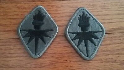 US Army Intelligence Center of Excellence (ICoE) hook and pile tape ACU Patch