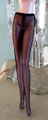 NEW Barbie Classic Camel Coat Doll Black Opaque Tights Pantyhose Fits Model Muse