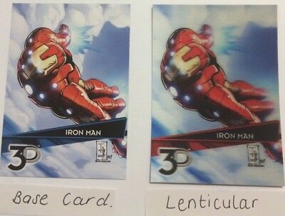 Marvel 3D   LENTICULAR VARIANT CARD plus BASE CARD  (IRONMAN)
