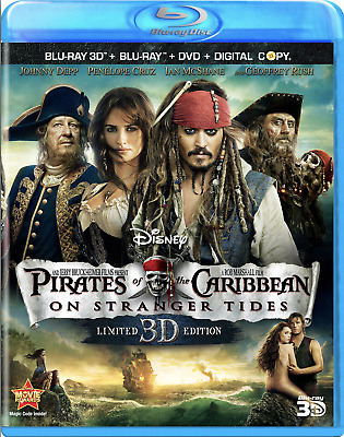 Pirates of the Caribbean: On Stranger Tides 3D Blu-ray+DVD, 5-Disc Set Brand New