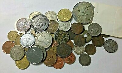 Foreign, World Coins Lot . from 1824 with two silver