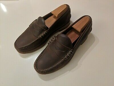 83d0db8d13b 8.5D Oak Street Bootmakers Men s Brown Chromexcel Beefroll Penny Loafers OSB