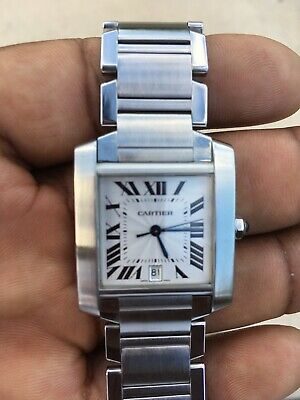 23e13ddfe41f1 CARTIER TANK FRANCAISE Stainless Steel REF 2302 Automatic MENS WATCH ...