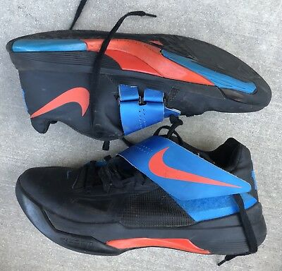 4b3f7cb89cf3 NIKE KD IV Used Size 15 Undftd Rogue Green Black Orange Kevin Durant ...