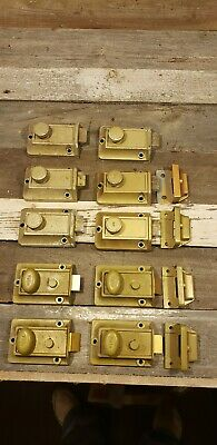 Vintage yale door lock surface mount and latch working Large lot!!