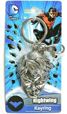 Night Wing Head New Toys Gifts Licensed 45392 Metal Key Chain DC Comics
