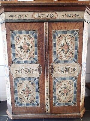 Antique Painted Armoire / Cupboard German 19th Century