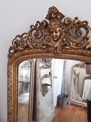 ~ Art Nouveau French Mirror ~ Old