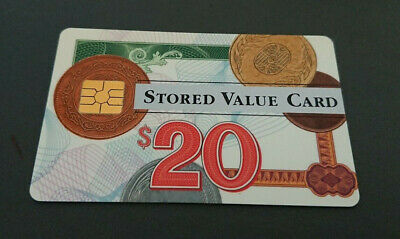 1996 $20 Visa Cash Card - National Bank In House Trial- 06/96 Expiry -Rare -Mint