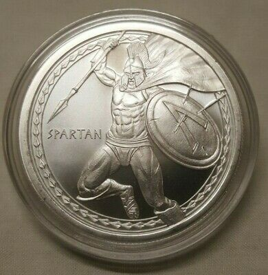 1oz Fighting Spartan Warrior .999 Fine Silver Round Coin Come and Take it