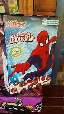 Ultimate Spider-Man Australian Cereal Box Marvel Coles Only 2015 Mask On Back