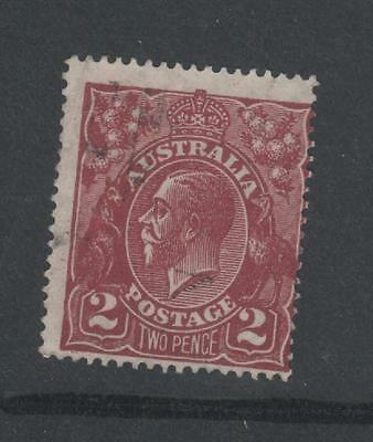 Australia 1927 KGV 2d BROWN Small Multi watermark  PERF 14 stamp FINE USED