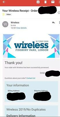 Wireless Festival Ticket 2019 (all Days-check For Availability)