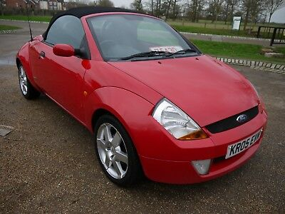 2005 Ford Streetka 1.6 Convertible Red Hot Red New Clutch Just Fitted Bargain..