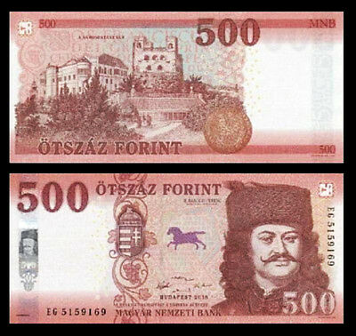 Hungary 500 Forint 2018 (2019) , UNC , 2 PCS PAIR , Consecutive , P-New Design
