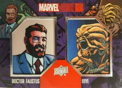 2017  Marvel Annual DUAL COMIC PATCH Card HIVE & DOCTOR FAUSTUS DCP-2 Upper Deck