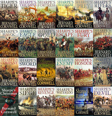 The RICHARD SHARPE Series By Bernard Cornwell (24 MP3 Audiobook Collection)