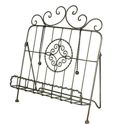 French Country Vintage Kitchen Wrought Iron BRONZE Recipe Book Holder New